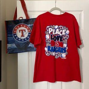 Love & Peace Texas Rangers Baseball T-shirt & Bag